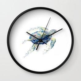 Lone Sea Turtle Watercolor  Wall Clock