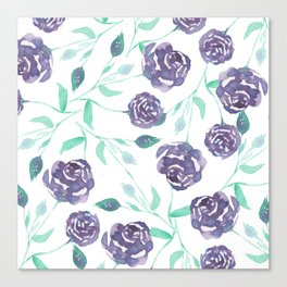 Purple Rose Bush Canvas Print