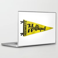 hufflepuff Laptop & iPad Skins featuring Hufflepuff 1948 Vintage Pennant by Andy Pitts
