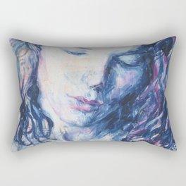 Woman Inside Rectangular Pillow