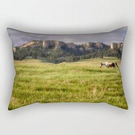 Horse in the Hills Rectangular Pillow