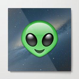 Alien Emoji Metal Print