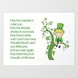IRISH PRAYER Art Print