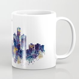 Detroit Skyline Silhouette Coffee Mug