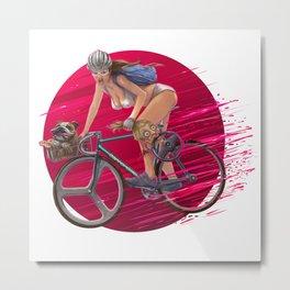 girl fixedbike Metal Print