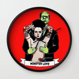 Mr. Frankenstein and Mrs. Frankenstein Wall Clock