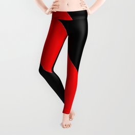 Oblique red and black Leggings