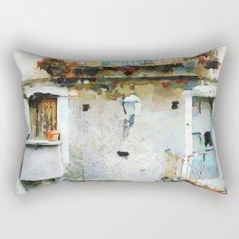 Street lamp between two windows Rectangular Pillow