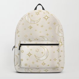 Celestial Pearl Moon & Stars Backpack