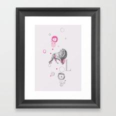Lion Circus Framed Art Print