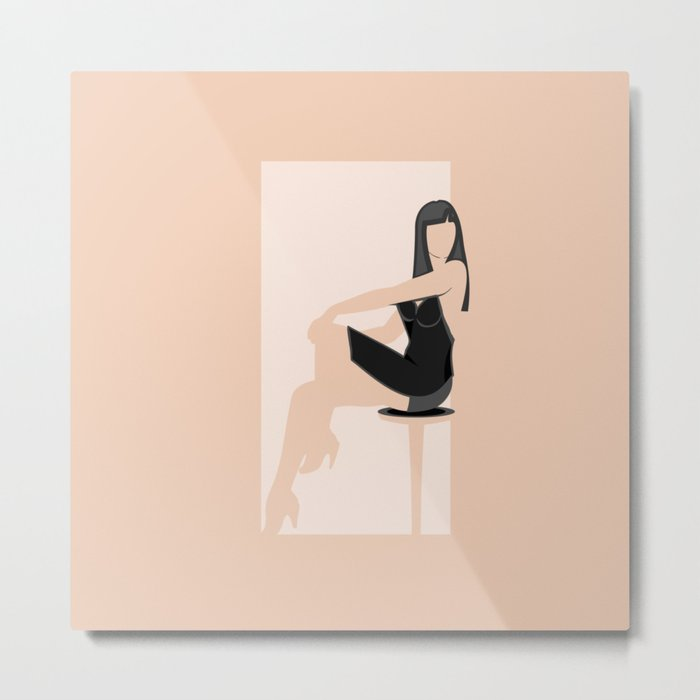 Cool Woman Metal Print