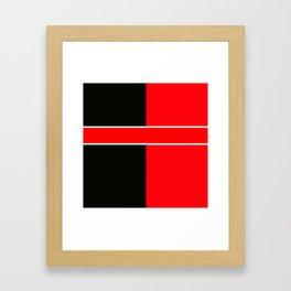 Team Colors 6...red,black,white Framed Art Print