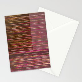 Red lines Stationery Cards