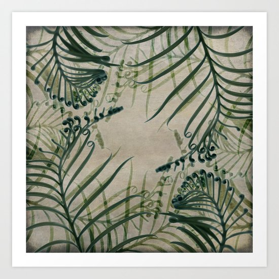 Cycas Leaves Abstract Art Print