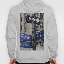 New York City Street Names Hoody