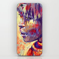 african iPhone & iPod Skins featuring African portrait by Marta Zawadzka