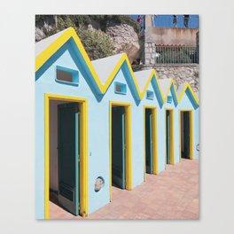 Bathhouses, Capri Canvas Print