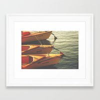 boats Framed Art Prints featuring Boats by Sharon RG Photography