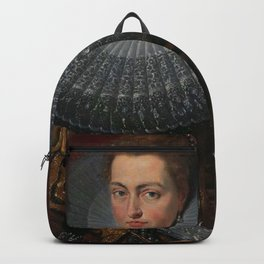 Tudor Lady in large Ruff collar Backpack
