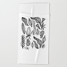 Plant Girl Beach Towel