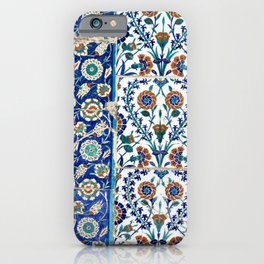 "Travel Photography ""Iznik ceramics in blue, red and teal."" -Istanbul, Turkey. Square photo print. iPhone Case"