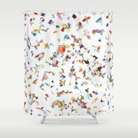 vogue Shower Curtains featuring Italian Vogue by Erick Stow