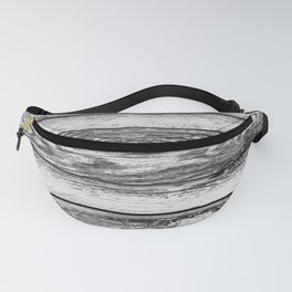 Weathered White Wood Wall Fanny Pack