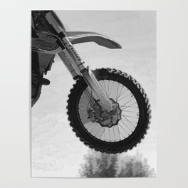 Motocross Dirt-Bike Racer Poster