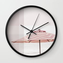 Beach Umbrella I Wall Clock