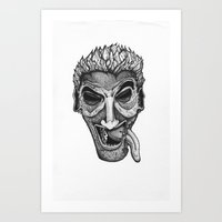The Joke Is On Me. Art Print