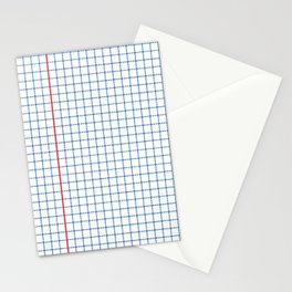Dotted Grid Red and Blue Stationery Cards