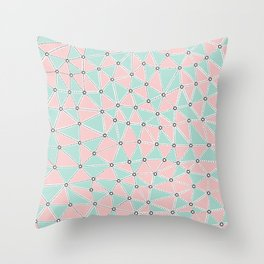 Seg African Blush Mint Throw Pillow