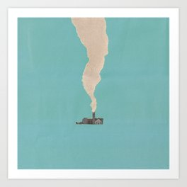 Torn Around — Smoke Art Print