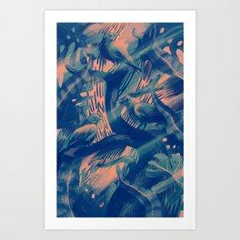 bluebirds Art Print