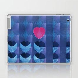 Fractal Art- Heart Art- Pink Heart- Blue Heart-U Know It- Childrens Art-Love Laptop & iPad Skin