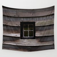 window Wall Tapestries featuring Window by Mia Regine