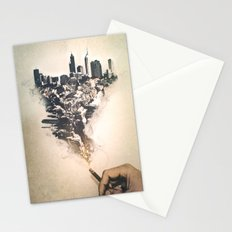 City up in smoke Stationery Cards