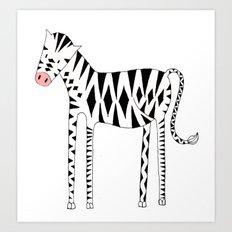 Long legs Zebra Art Print