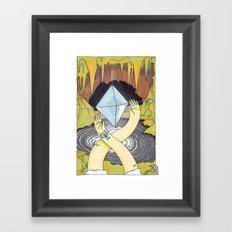 Levitation Stone Framed Art Print