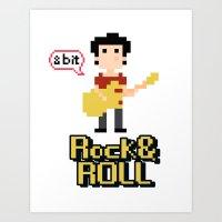8bit Art Prints featuring 8bit by ulas okuyucu