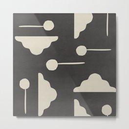 Clouds and lollipops - dark version Metal Print