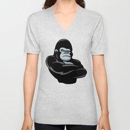 angry  gorilla.black gorilla Unisex V-Neck