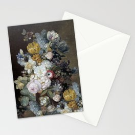 Antique Mosaic Floral Stationery Cards