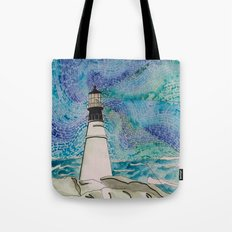 The Moody Blue Light Tote Bag