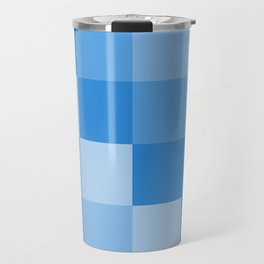Four Shades of Light Blue Square Travel Mug