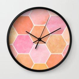 Desert Mood Hexagon Print Wall Clock
