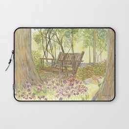 Bedrock Garden Spring on In and Out Pathway Laptop Sleeve