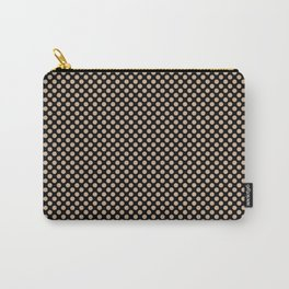 Black and Hazelnut Polka Dots Carry-All Pouch