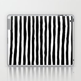 Black and White Vertical Stripes Laptop & iPad Skin