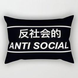 Anti social - Japanese words Rectangular Pillow